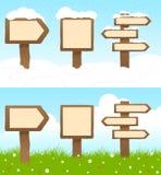 Drewniani znaki Obraz Stock