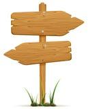 Drewniani znaki Obraz Royalty Free