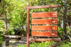 Drewniani znaki i obraz stock