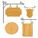 Drewniani znaki ustawiający wektor Fotografia Royalty Free