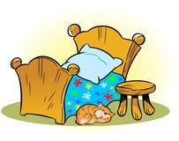 Drewniany łóżko polowe royalty ilustracja