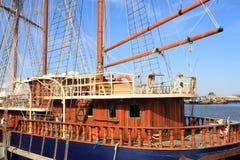 drewniany łódkowaty żagiel obraz royalty free