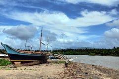 drewniany łódkowaty połów Zdjęcia Royalty Free