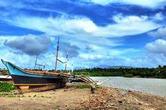 drewniany łódkowaty połów Obrazy Stock
