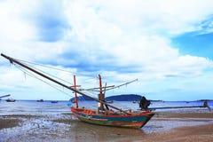 drewniany łódkowaty połów Fotografia Royalty Free
