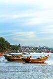 Drewniany łódkowaty Wietnam Obrazy Stock