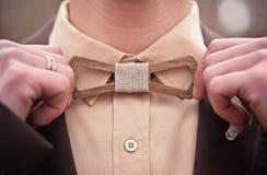 Drewniany łęku krawat Zdjęcie Stock