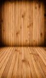 Drewniany ściany i podłoga tło fotografia royalty free