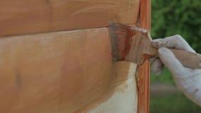 Drewniany ścienny obraz z muśnięciem z brown kolorem zbiory