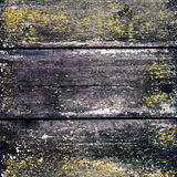 Drewniany ścienny tło z światłem reflektorów Stary Drewniany tło Vintag Obrazy Stock
