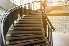drewniany ślimakowaty schody Kółkowy schody Obrazy Royalty Free