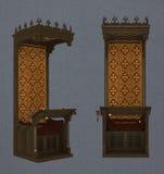 Drewniany średniowieczny writing biurko Obraz Stock