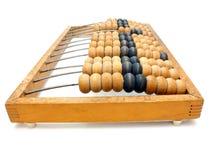 Drewniany abakusa stary drewniany zakończenie Zdjęcie Stock