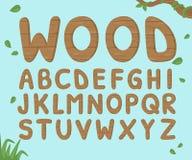 Drewniany abecadła tło Obrazy Royalty Free