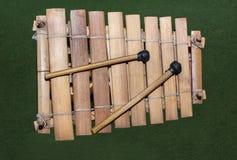 Drewniany afrykański ksylofon Fotografia Stock