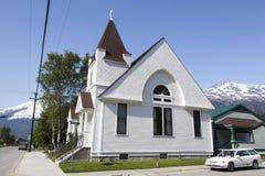 Drewniany Alaski kościół Zdjęcia Royalty Free