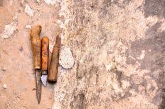 Drewniany antyczny chesel Zdjęcie Royalty Free