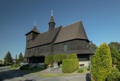 Drewniany antykwarski kościół Obrazy Stock