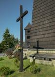 Drewniany antykwarski kościół Obrazy Royalty Free