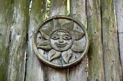 drewniany antykwarski płotowy słońce Fotografia Royalty Free