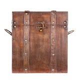 Drewniany bagażnik lub klatka piersiowa odizolowywający Obrazy Royalty Free