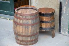 drewniany barrel obrazy royalty free