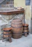 drewniany barrel obrazy stock