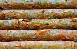 Drewniany beli ogrodzenie Zdjęcie Stock