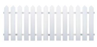 Drewniany bielu ogrodzenie Obrazy Royalty Free