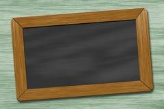 Drewniany blackboard Fotografia Royalty Free