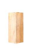 Drewniany blok odizolowywający na białym tle sosna Fotografia Royalty Free