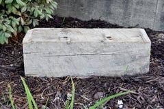 Drewniany blok z kopii przestrzenią Zdjęcie Royalty Free