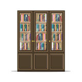 Drewniany Bookcase meble Fotografia Royalty Free