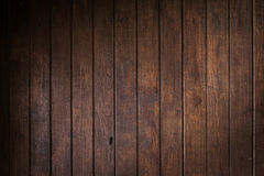 Drewniany brąz ściany deski tło Obrazy Stock