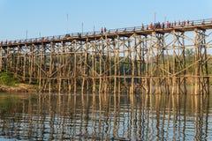 drewniany bridżowy długi Thailand Obraz Royalty Free