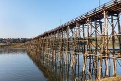 drewniany bridżowy długi Thailand Zdjęcie Stock