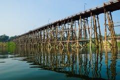drewniany bridżowy Thailand fotografia royalty free