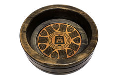 Drewniany brown ashtray zdjęcie royalty free
