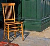 Drewniany Brown krzesło Zdjęcia Royalty Free