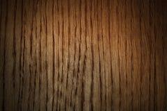 Drewniany Brown tło z Vignetting Fotografia Stock