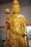 Drewniany  buddha Zdjęcia Stock
