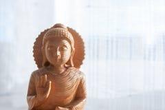 Drewniany  buddha Zdjęcie Stock