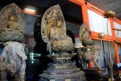 Drewniany Buddha, Kyoto, Japonia zdjęcia stock