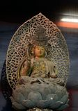 Drewniany Buddha, Kyoto, Japonia zdjęcie royalty free