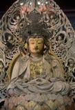 Drewniany Buddha, Kyoto, Japonia obraz stock