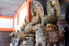 Drewniany Buddha, Kyoto, Japonia fotografia royalty free