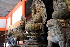 Drewniany Buddha, Kyoto, Japonia obraz royalty free