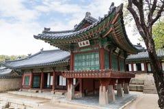 Drewniany budynek przy Changdeokgung pałac w Seul obrazy stock