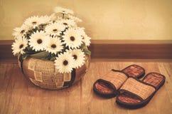 Drewniany buta zdrój Obrazy Stock