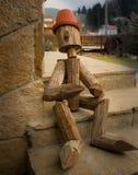 Drewniany chłopiec odpoczywać Zdjęcia Stock